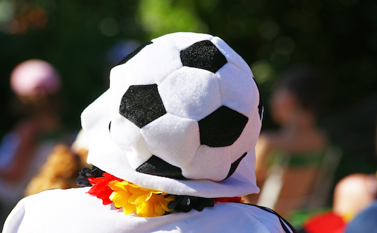 Fußball-Hut